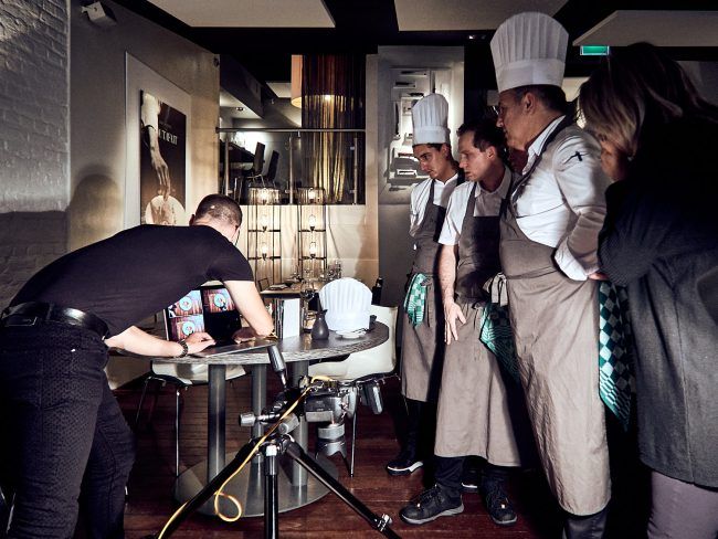 Mark Koolen gastronomy photoshoot backstage Bart Ausems Tout a Fait Maastricht