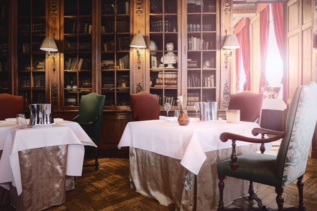 Restaurant St-Gerlach Valkenburg interior of luxury gastronomy by photography Mark Koolen